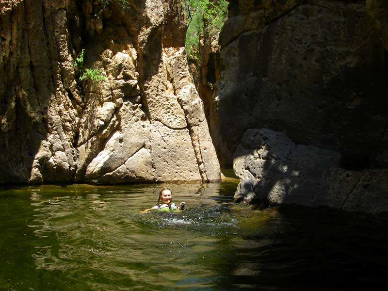 Swimming in Arroyo El Aliso