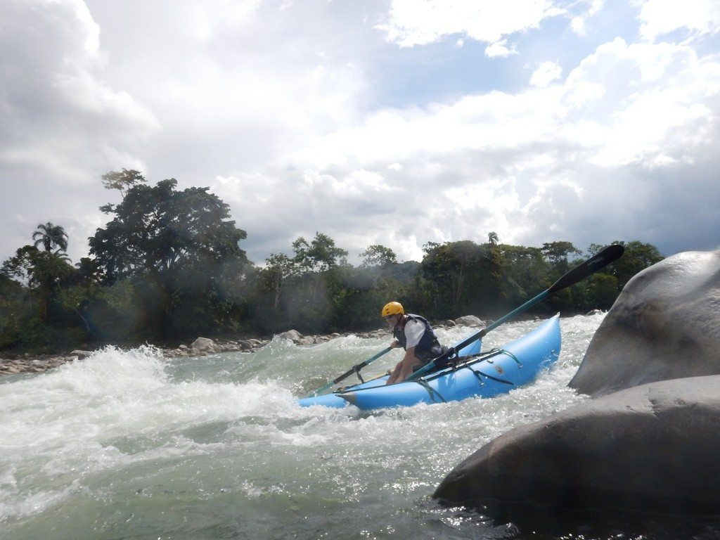 "Standard ""International Travel"" cataraft in action on the Rio Jatanyacu, Ecuador"