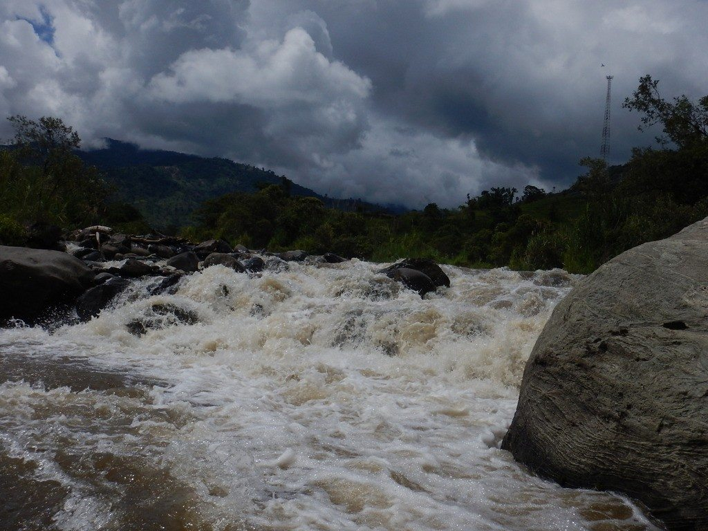 Confluence of the Sardinas Grande with the Rio Quijos