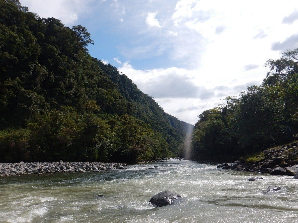 Confluence of the Rio Cosanga and Rio Quijos
